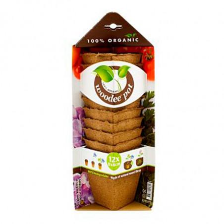 macetas biodegradables woodee pot cuadradas