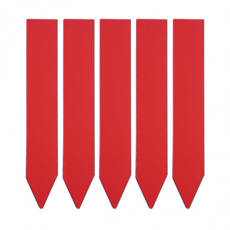 etiqueta roja identificar plantas