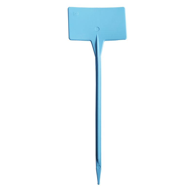 etiqueta pincho para plantas azul