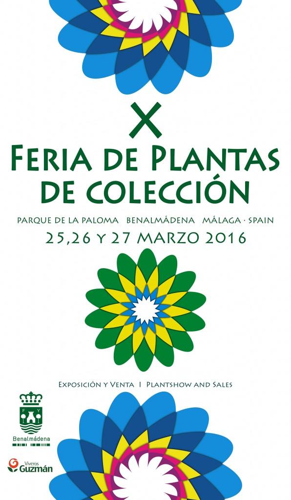 CARTEL X FERIA DE PLANTAS DE COLECCIÓN benalmadena